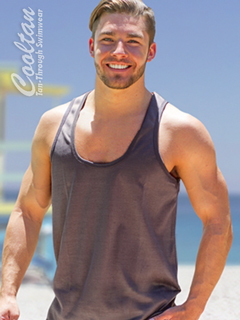 Mens Dark Gray Tank Top Shirt